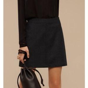 Aritzia Wilfred Essonne Wool Cashmere Mini Skirt